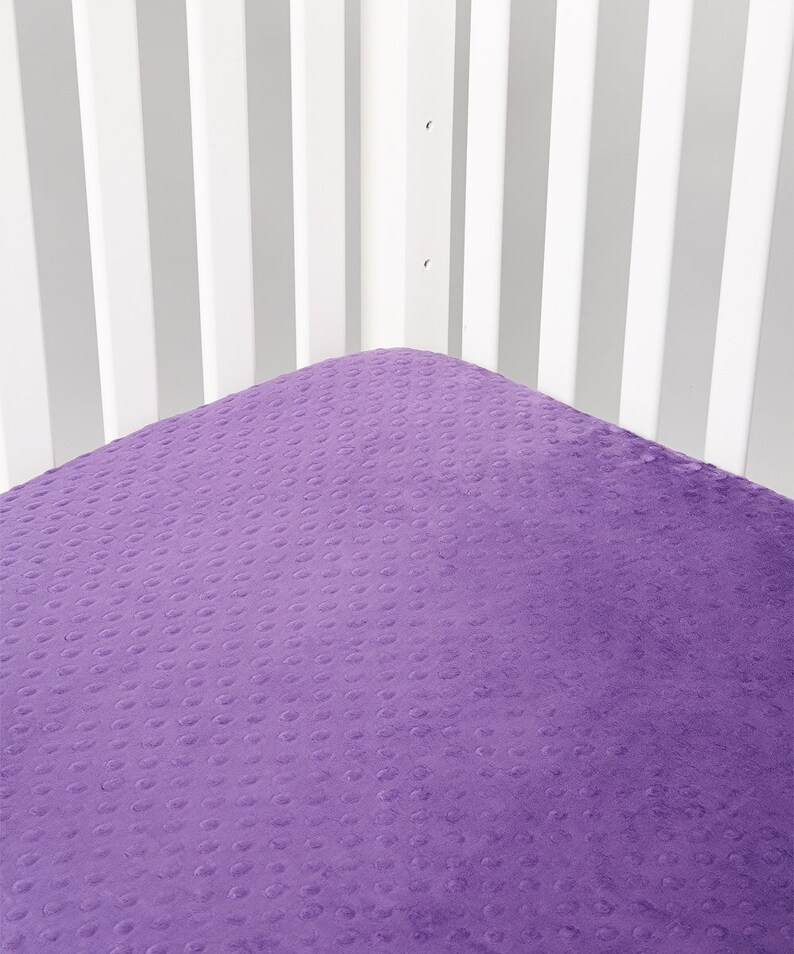Minky Standard Crib Sheet Choose Your Color