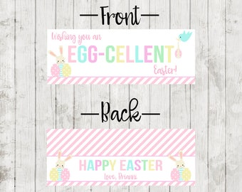 Printable Custom Easter Treat Bag Toppers