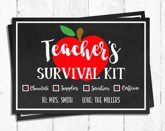 photograph regarding Teacher Survival Kit Printable called Trainer survival package Etsy