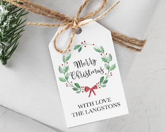 christmas gift tags personalized etsy