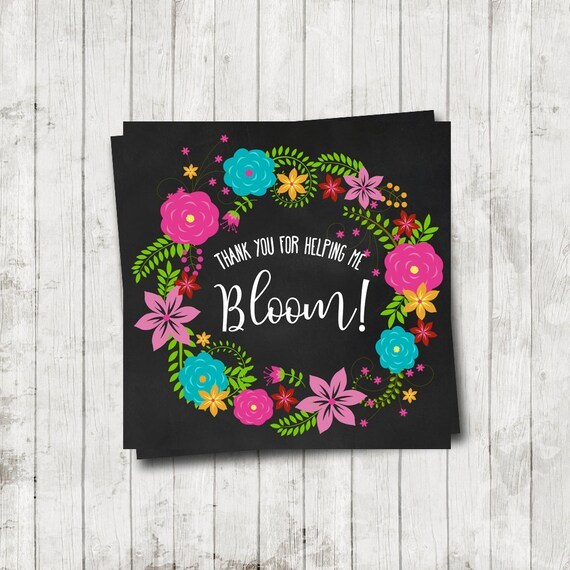 photo regarding Thanks for Helping Me Bloom Printable identify Instructor Appreciation Tag - Thank yourself for Assisting me Bloom- Trainer Appreciation 7 days- Printable- Chalkboard - Trainer Flower Reward