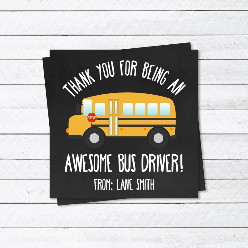 image regarding Bus Driver Thank You Card Printable identified as Bus Driver Thank Your self Tag - Bus Driver Reward Principle - Thank oneself Card - Bus Driver Appreciation 7 days - Thank by yourself Present