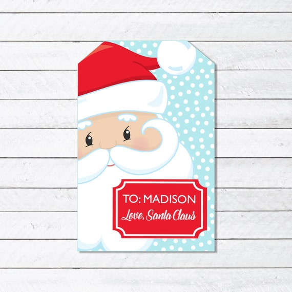 photograph about Printable Santa Claus named Santa Claus Offer Reward Tag - Printable Xmas Present Tags for Children - Custom-made Santa Claus Present Tags