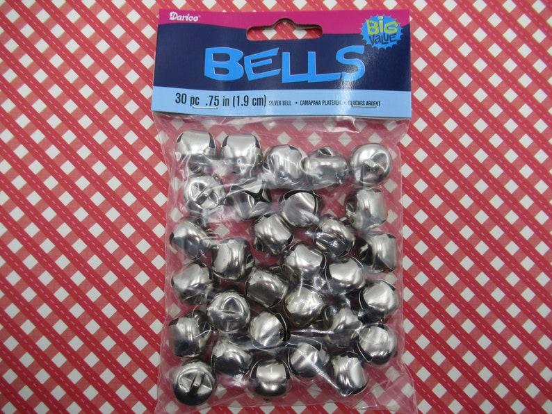 Jingle bells 15mm Or Et Argent 24 pcs