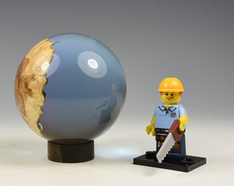 Australian brown mallee burr & resin hybrid sphere, woodturning, gifts for dad, fromthetree
