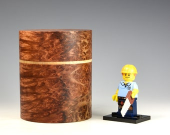 Redwood burr & rippled sycamore wooden box, wood turning, gifts for dad, fromthetree