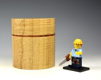 Rippled myrtle & thuya burr wooden box, wood turning, gift for men, fromthetree