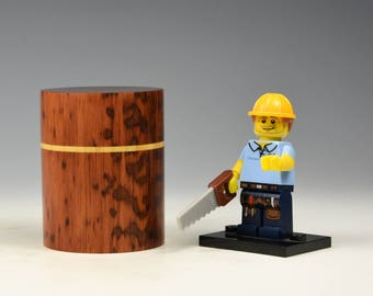 Snakewood & boxwood wooden box, wood turning, gifts for men, fromthetree