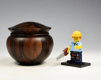 Mun ebony wooden box, wood turning, gifts for men, fromthetree