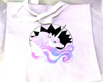 Princess Unicorn Tote Bag