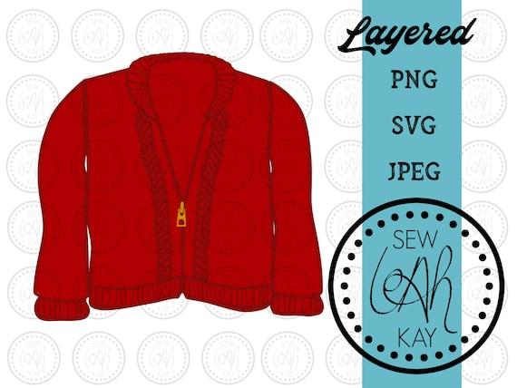 Mr Rogers Sweater Svg Red Sweater Svg Daniel Tiger Mr Etsy