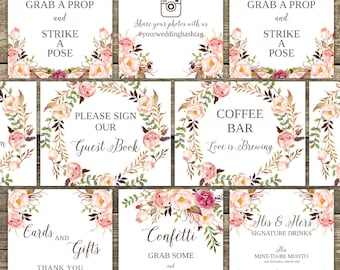wedding signs template wedding signage wedding signs etsy