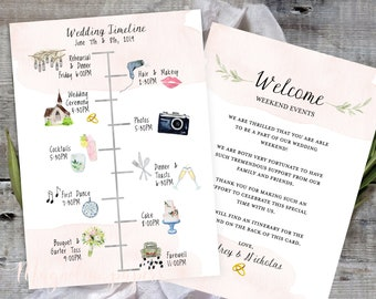 wedding timeline etsy
