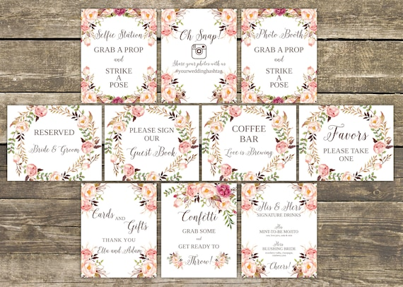 wedding signs wedding signage wedding signs printable wedding