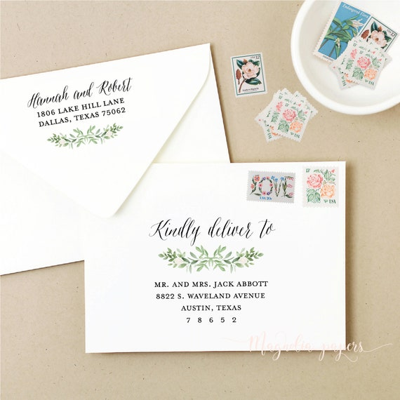 image about Printable Envelope Address Template called Envelope Template Floral, Printable Envelope Addressing