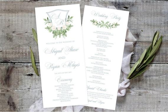 Printable Classic Monogram Wedding Invitation