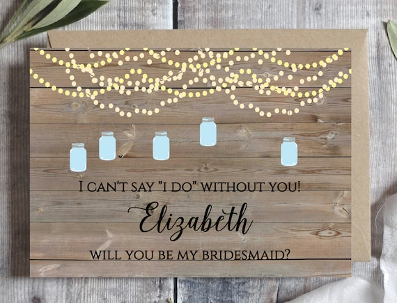 image relating to I Can't Say I Do Without You Free Printable identify Bridesmaid proposal card Template, Will oneself be my bridesmaid
