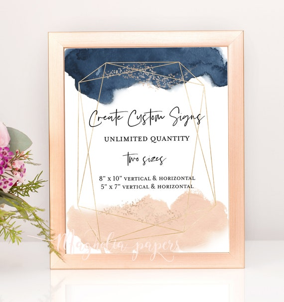 wedding signs template unlimited wedding signage geometric wedding