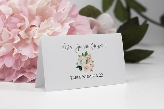 photo relating to Avery Printable Place Cards referred to as Printable Destination Card Template, Avery Issue Card, Do-it-yourself Marriage