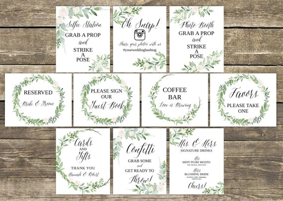 wedding signs template wedding signage wedding signs printable