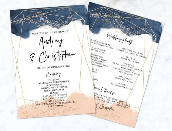 Superhero Wedding Ceremony Programs printed or printable