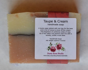 Handmade Soap Bar, Red Clay Soap Bar, Artisan Soap, Moisturizing Soap