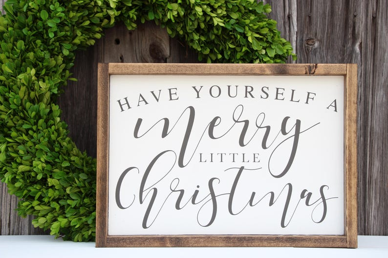 Have Yourself A Merry Little Christmas Sign.Have Yourself A Merry Little Christmas Sign Christmas Wood Sign Painted Wood Sign Holiday Sign Farmhouse Decor Christmas Decor