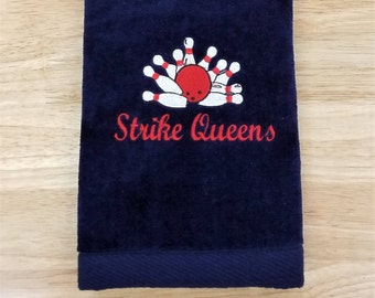 Bowling Towel Personalized Sports Towel Monogrammed Personalized Gifts