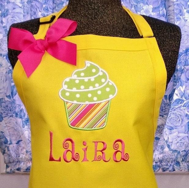 Personalized Apron Cupcake Womens Apron Birthday Christmas