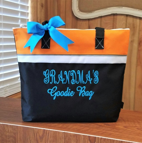 Personalized Grandma/'s Goody Bag Canvas Tote Gift for Grandma and Gifts for Women