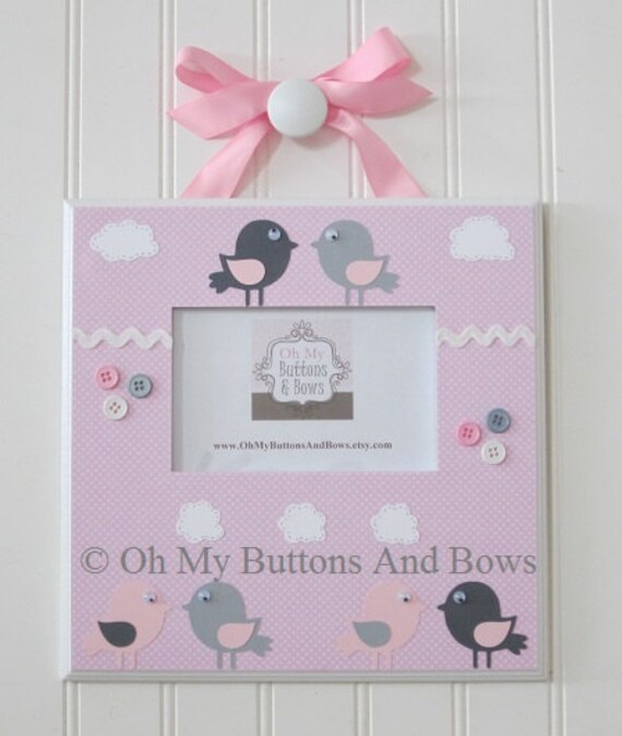 Custom Picture Frames Pink And Gray Hanging Frames Etsy
