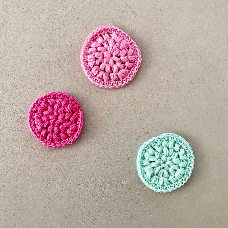 3 Abschminkpads in pink rosa und mint image 0