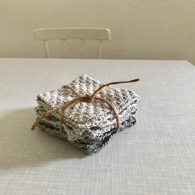 3 Baumwoll Tücher in grau Tönen image 0