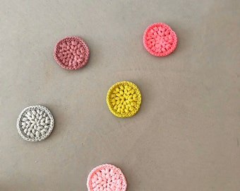 5 Abschminkpads in verschiedenen Farben