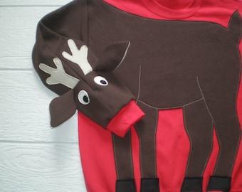 2c112eb8 Reindeer sweatshirt, Deer sweatshirt, deer shirt, Ugly Christmas sweater, Christmas  sweatshirt, Holiday shirt, adult unisex sizes