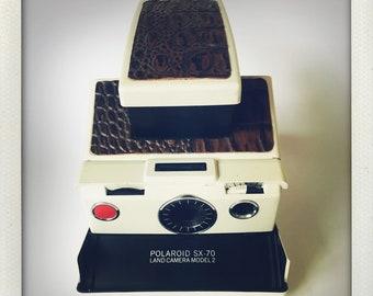 Polaroid SX-70 Model 2 Land Camera W/ Alligator Leather - GUARANTEED WORKING