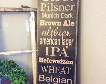 BEER sign customizable, 12x36, Canvas style