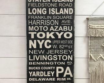 Subway sign, Subway art, personalized, address sign, walk down memory lane custom sign.