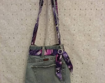 Recycled Denim Jean Purse