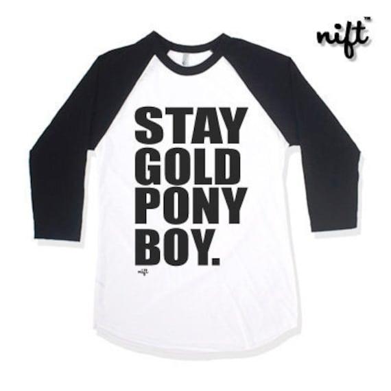 Stay Gold Ponyboy Unisex Baseball 3 4 Sleeve T Shirt Etsy 20% off with code zblkfridaygo ends today. etsy