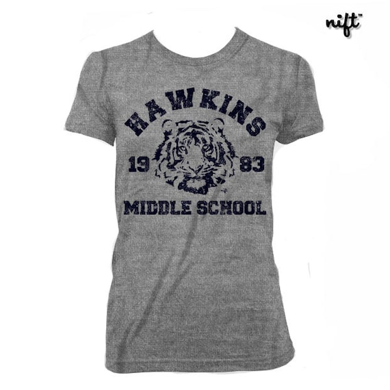 Stranger Things Hawkins Middle School Tigers Phys Ed Etsy