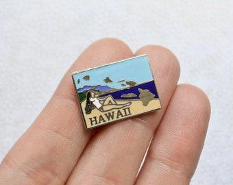 Vintage Hawaii Enamel Pin   State Pin   State Souvenir Pin   Lapel Pin    Vintage Pin