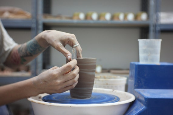 MARBLED TUMBLERS: Beginners Wheelthrowing Class with Emilia Morrow | MONDAYS