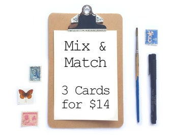 Mix and Match Card Special | Three Cards for 14 dollars