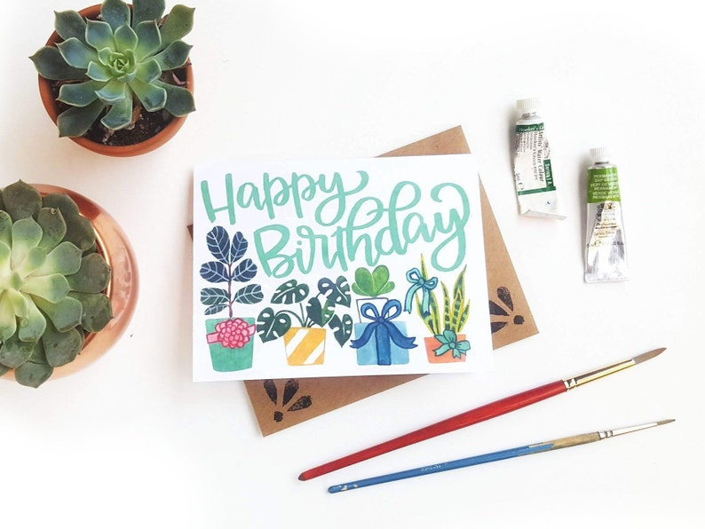 Happy Birthday Plants Gifts Card Crazy Plant Lady