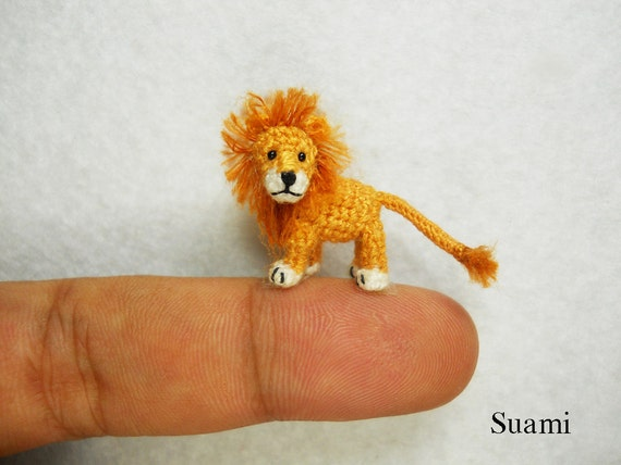 Miniatur Crochet Löwe Mikro Mini Amigurumi Häkeln Kleine Etsy