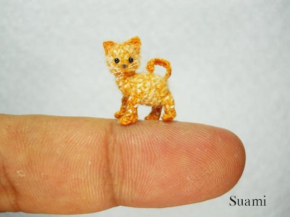 Kleine Süße Ingwer Katze Kätzchen Mikro Mini Etsy