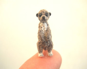 Miniature Meerkat - Miniature Crochet Amigurumi  Animal - Made To Order