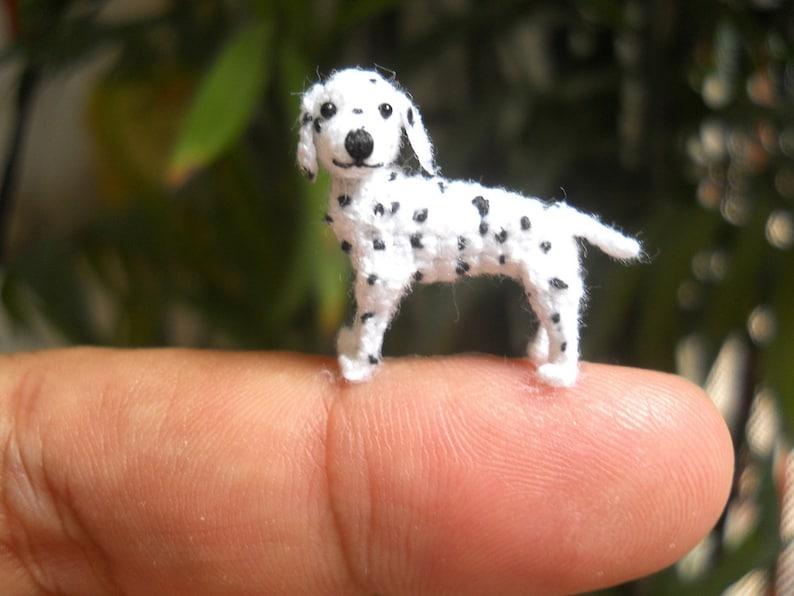 Cucciolo Di Dalmata In Miniatura Piccoli Uncinetto Cane Etsy