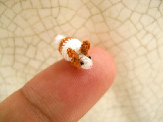 Mikro Bunny Kaninchen Amigurumi Mini Häkeln Kleine Sachen Etsy